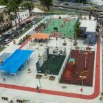 Praça Niterói: embaixo da estrutura, reservatórios comportam 58 milhões de litros de água