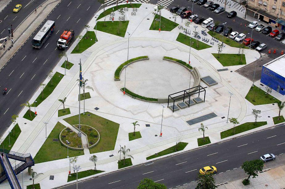 Praça da Bandeira: o menor dos reservatórios comporta 18 milhões de litros de água