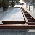Concreto pode ser combinado com outros materiais, como o bambu, em projetos de parklets