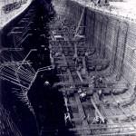Armaduras de aço cobertas por concreto davam origem aos navios, a maioria para combate