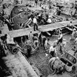Estaleiros especializados em construir embarcações de concreto proliferaram entre 1942 e 1945