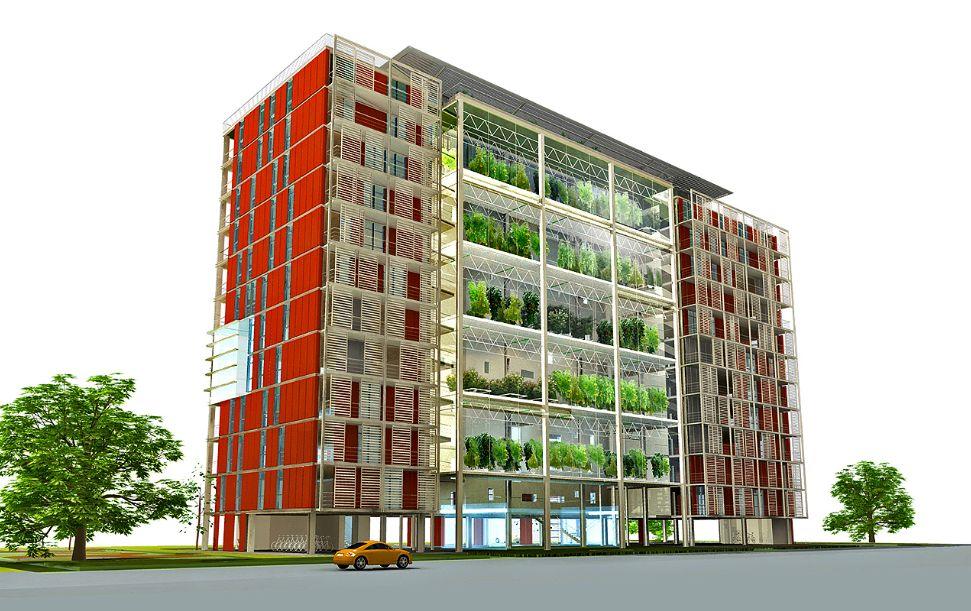 Projeto Agro-Housing: varandas espaçosas e arejadas permitem cultivar hortas na edificação
