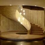 Escada com acabamento em concreto aparente está entre os produtos pré-fabricados