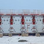 Fôrma com aquecimento para ajudar na cura do concreto em regiões com inverno intenso