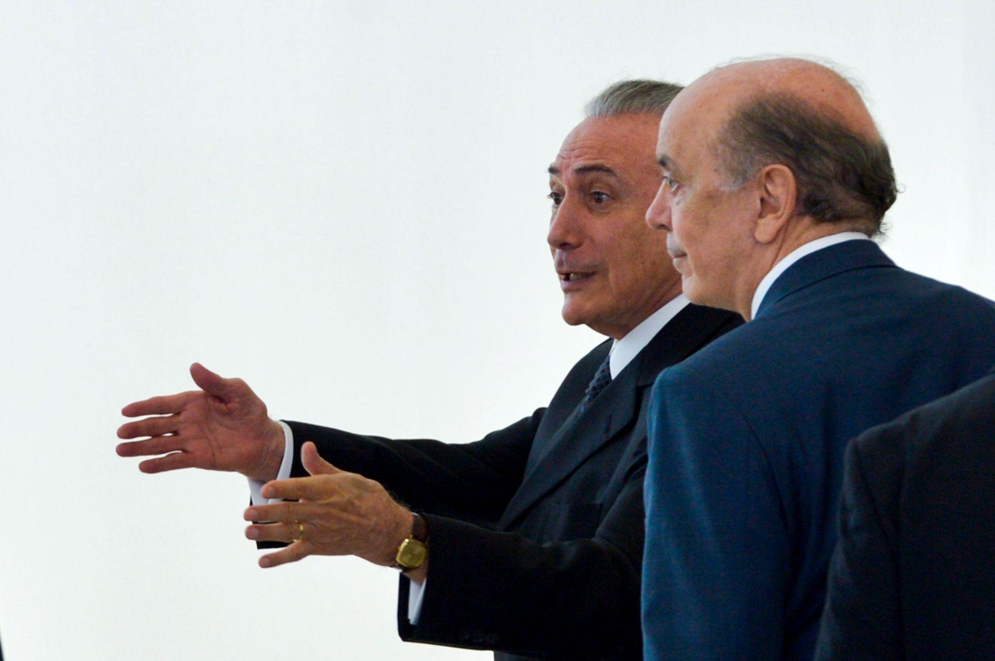 Michel Temer e José Serra: política de abertura para atrair capital estrangeiro e novas tecnologias na construção civil