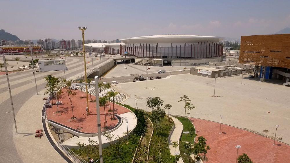 Parque Olímpico: paver reveste todo o calçamento que envolve os equipamentos esportivos