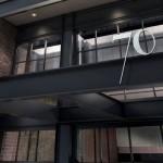 70 Charlton: fachada expõe estrutura mista de aço e concreto