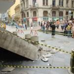Marquise caída em Porto Alegre, em 2007: cidade é uma das mais vulneráveis a esse tipo de acidente