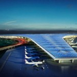 No Kuwait, o telhado do terminal se transformou em uma imensa usina de energia solar