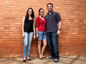 Bruna Campos, Juliana de Almeida e Marcus Vinícius: à frente da startup que acrescenta nova tecnologia à construção civil brasileira