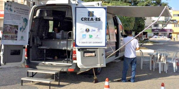 No Espírito Santo, CREA tem um veículo para o gabinete itinerante