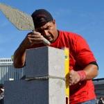 Além da exposição, construtores que trabalham com alvenaria de blocos de concreto participaram da tradicional competição Masonry Madness