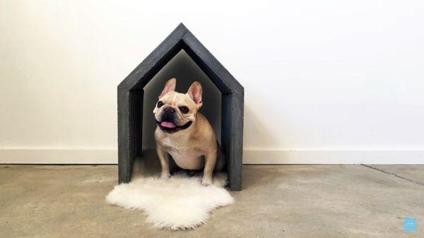 Casinha para pet: versatilidade do concreto reinventa objetos