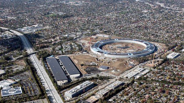 Área construída da nova sede da Apple ocupa 260 mil m² na cidade de Cupertino, na Califórnia