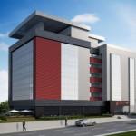 Projeção da nova sede do SindusCon-PR: prédio será autossustentável em energia