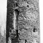 Imagem da torre em 1981, antes do desabamento de parte de sua estrutura, em 2006