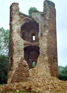 Imagem da torre, após o desabamento de parte de sua estrutura