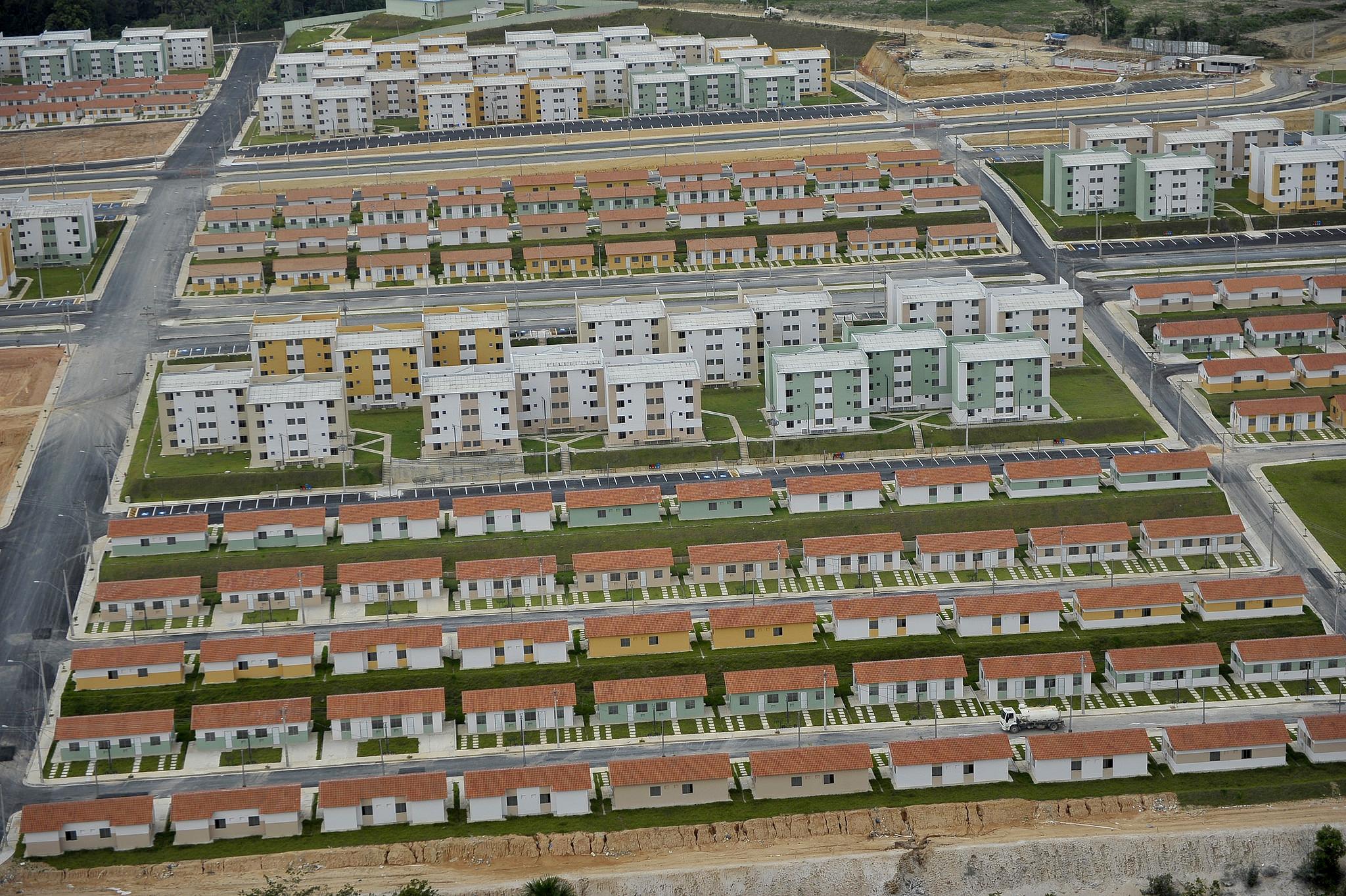 Conjunto Viver Melhor, em Manaus-AM: inauguradas em 2012, unidades apresentam até problemas estruturais