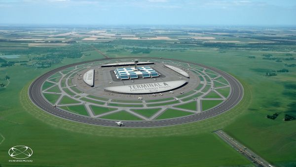 Segundos os projetistas, aeroporto com pista circular permite decolagens e aterrissagens simultâneas