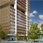 Torre de 40 andares será o primeiro arranha-céu construído com madeira e concreto