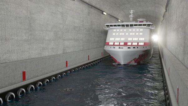 Calado do canal que cortará o túnel terá 12 metros de profundidade
