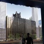 Projeção mostra como as duas torres vão ocupar terrenos distintos em uma das regiões mais caras de Nova York