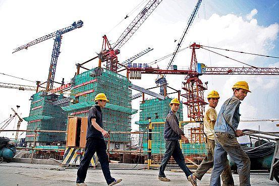 Canteiro de obras na China: gigantes começam a se instalar no Brasil
