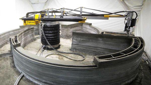 Impressora 3D precisou ser coberta por uma estufa para operar sob baixíssimas temperaturas