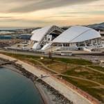 Estádio olímpico de Sochi, construído para os jogos de inverno de 2014: pronto para a Copa