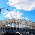 Arena Saransk: como boa parte dos outros estádios, entrou na fase de acabamento