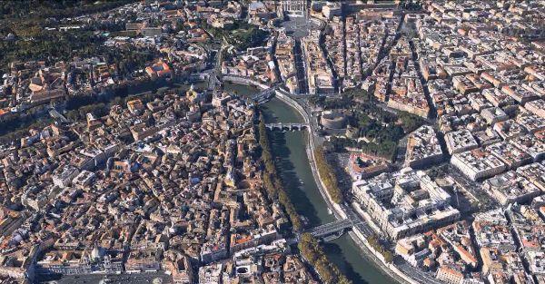 Cidade de Roma, pelo Google Earth: Eurocode foi atualizado para considerar o microclima na Europa