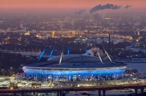 Estádio de São Petersburgo: com capacidade para quase 70 mil pessoas, será um dos principais da Copa
