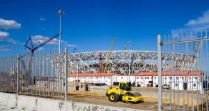 Arena Volgogrado: atual prioridade da obra é finalizar a estrutura para receber a cobertura