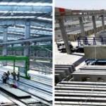 Fábrica de pré-fabricados que abastece a construção de Bismayah: capacidade de executar um prédio de 10 andares em 100 dias