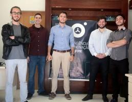 Vitor Lopata, João Victor, Guilherme Pereira, Naian Barros e Guilherme Lopes: sócios da Colloc