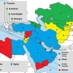 Mapa mostra principais países integrantes do MENACA