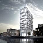 Projeção revela como ficará o silo na região portuária de Copenhague, após retrofit