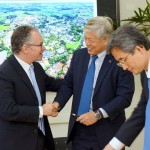 Reitor Marcelo Knobel, em assinatura de convênio com universidade da Coreia: UNICAMP lidera em parcerias internacionais
