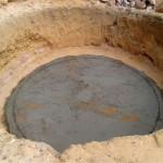 Escavação e concretagem da base da cisterna também são ensinadas no curso