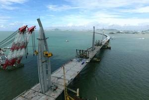 Período de construção da ponte teve número significativo de acidentes de trabalho