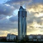 Torre do Milênio, em Viena, na Áustria: recorde mundial de construção com o emprego de estruturas mistas