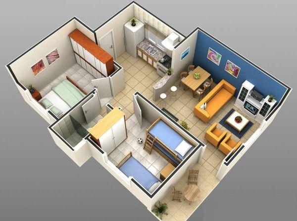 Apartamento com dois quartos tornou-se a preferência dos brasileiros