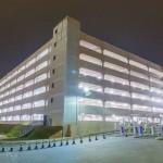 Edifício-garagem do São Paulo Expo: área construída de 121 mil m² e volume de concreto pré-fabricado estimado em 18.300 m³