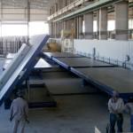 Fábrica para produção dos elementos de concreto, instalada na Índia: tecnologia alemã