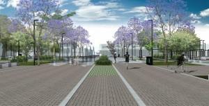 Pavimento permeável irá recobrir boa parte dos 10 mil m2 da Praça Central de Guaratuba-PR