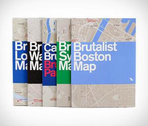 """Capas da coleção """"mapas de concreto"""": guia mostra o melhor da arquitetura do mundo. Crédito: BlueCrowMedia."""