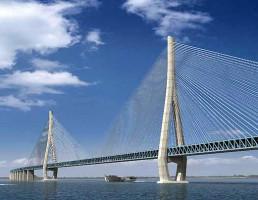 Projeção da ponte quando ela ficar pronta em 2022: China é hoje a maior construtora de pontes no mundo