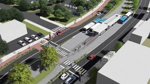 Alguns trechos do BRT de Florianópolis receberão pavimento de concreto armado.