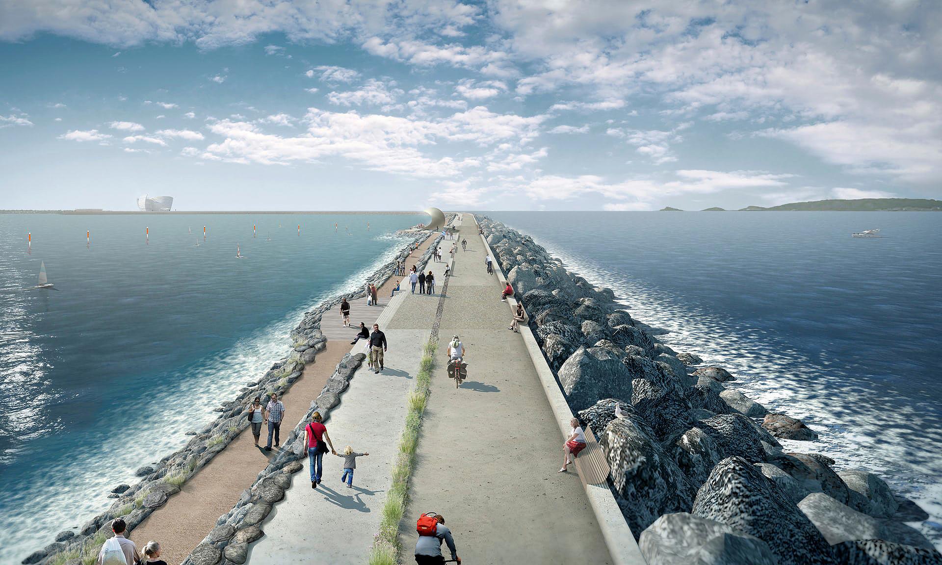 Topo da barragem servirá de parque linear, segundo projeto para a Swansea Bay