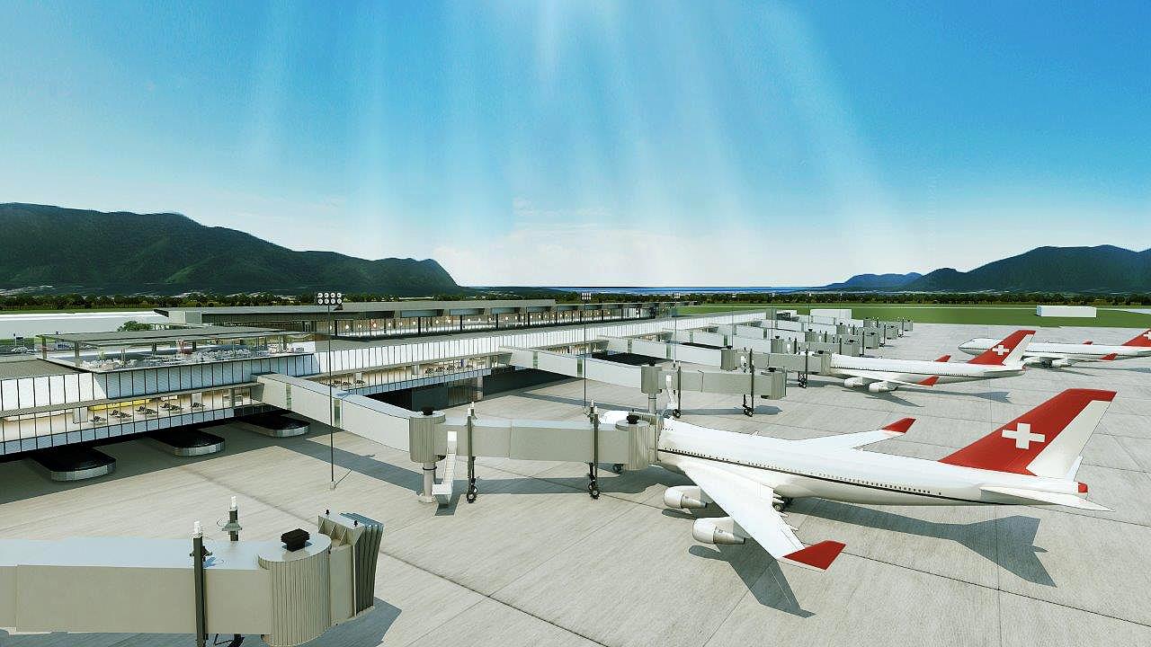 Novo aeroporto de Florianópolis terá 10 fingers para embarque e desembarque de passageiros. Crédito: Floripa Airport